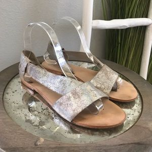 Free People | Silver Metallic Under Wraps Sandals